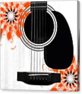 Floral Abstract Guitar 32 Canvas Print