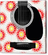 Floral Abstract Guitar 8 Canvas Print