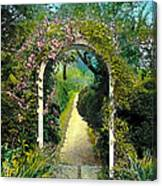 Floral Arch And Path Canvas Print