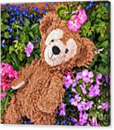 Floral Bear Canvas Print
