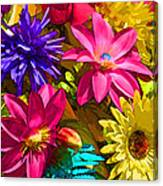 Floral Colors 1 Canvas Print