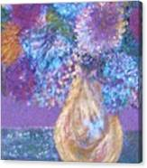 Floral Fantasy Blue Canvas Print
