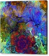 Floral Psychedelic Canvas Print