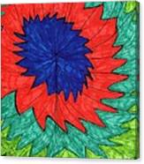 Floral Spin Canvas Print