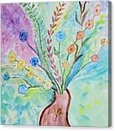Floral Stream Canvas Print