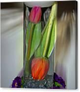 Floral Table Piece Canvas Print