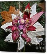 Floral Tree Ornament Canvas Print