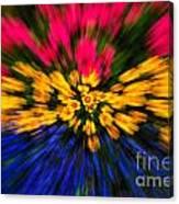 Floral Triple Zoom Canvas Print