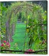 Floral Window Canvas Print