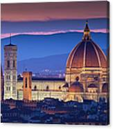 Florence Catherdral Duomo And City From Canvas Print