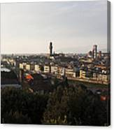 Florence Form The Piazza Michalengelo Canvas Print