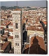 Florence From The Top Of Brunelleschi's Dome Canvas Print