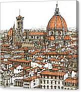 Florence In Colour Canvas Print