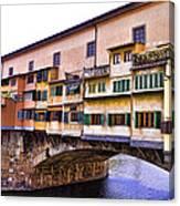 Florence Italy Ponte Vecchio Canvas Print