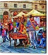 Florence Street Musicians Canvas Print