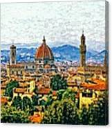 Florence Watercolor Canvas Print