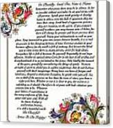 Florentine Desiderata Poster Canvas Print