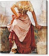 Florentine Flower Girl Canvas Print