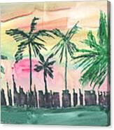 Florida City-skyline3 Canvas Print