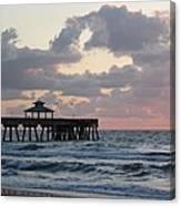 Florida Fishing Pier Canvas Print