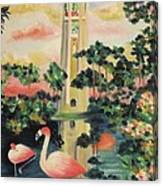 Florida Flamingo's Canvas Print