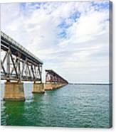 Florida Overseas Railway Bridge Near Bahia Honda State Park Canvas Print