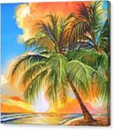 Florida Palm Sunset Canvas Print