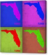 Florida Pop Art Map 1 Canvas Print