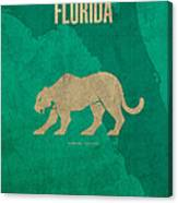 Florida State Facts Minimalist Movie Poster Art  Canvas Print