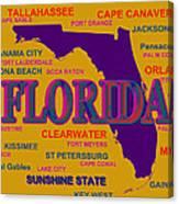 Florida State Pride Map Silhouette  Canvas Print