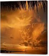 Florida Sunshower Sunset Canvas Print