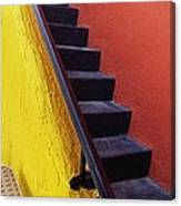 Florida Yellow And Orange Wall Stairs Canvas Print
