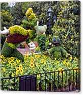 Flower And Garden Signage Walt Disney World Canvas Print