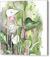 Flower Anthurium 04 Elena Yakubovich Canvas Print
