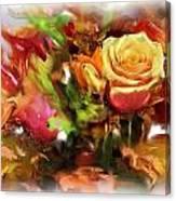 Flower Bouquet Greetings Canvas Print