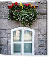 Flower Box Old Quebec City Canvas Print