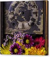 Flower Clock Canvas Print