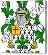 Flower Coat Of Arms Irish Canvas Print