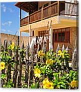 Flower Fence For A Beach Loft In Jeri Canvas Print