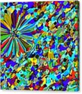 Flower Fight Abstract Canvas Print