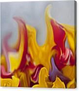 Flower Flames Canvas Print