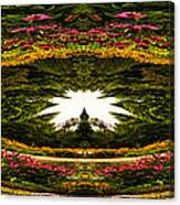 Flower Garden Polar View Canvas Print