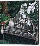 Flower Garden Seat Canvas Print