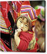 Flower Hmong Baby 01 Canvas Print