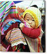 Flower Hmong Baby 04 Canvas Print