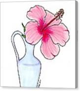 Flower In Jug Canvas Print