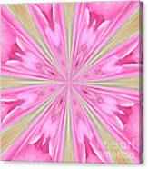 Flower Kaleidoscope Canvas Print