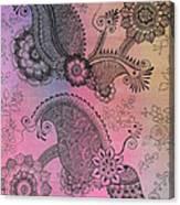 Flower N Leaves Canvas Print
