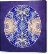 Flower Of Life Blue Canvas Print