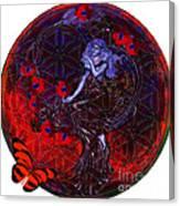Flower Of Life Nouveau  Canvas Print